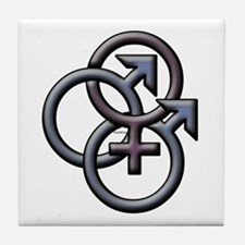 MFM SWINGERS SYMBOL GRAY Tile Coaster
