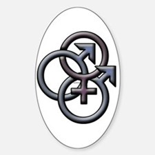 MFM SWINGERS SYMBOL GRAY Oval Decal