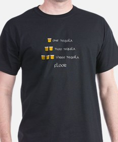 One Tequila Black T-Shirt