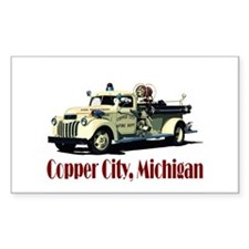 The Copper City, Michigan Rectangle Decal