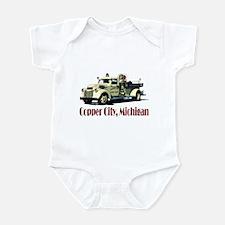 The Copper City, Michigan Infant Bodysuit