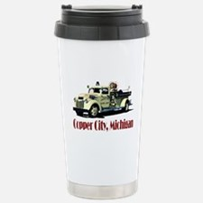 Cute Fire truck grandpa Travel Mug