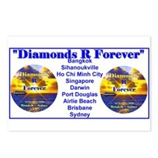 Diamonds R Forever- Postcards (Package of 8)