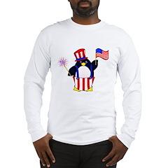 Patriotic Penguin Long Sleeve T-Shirt