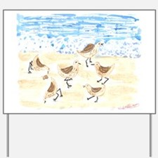 Sandpipers on Old Orchard Bea Yard Sign