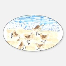 Sandpipers on Old Orchard Bea Oval Decal