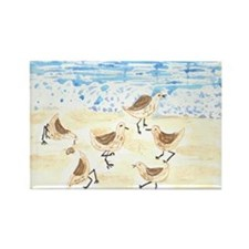 Sandpipers on Old Orchard Bea Rectangle Magnet