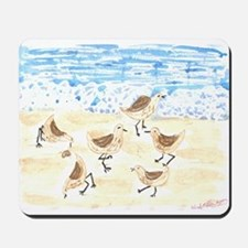 Sandpipers on Old Orchard Bea Mousepad