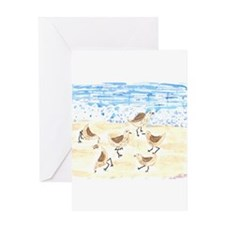 Sandpipers on Old Orchard Bea Greeting Card