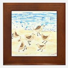 Sandpipers on Old Orchard Bea Framed Tile
