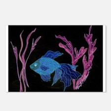 Goldfish Turned Betta Postcards (Package of 8)