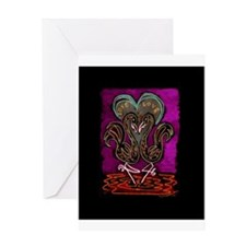 Gothic Flamingo Greeting Card
