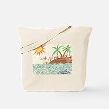 Flamingo Island Tote Bag