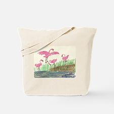 Flamingo Marsh Tote Bag