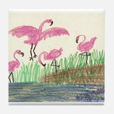 Flamingo Marsh Tile Coaster