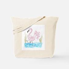 Pink Flamingo 13 Tote Bag