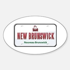 New Brunswick Plate Oval Decal