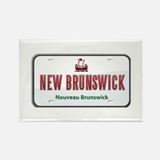New Brunswick Plate Rectangle Magnet
