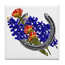 HORSESHOE, PAINTBRUSH, BLUEBO Tile Coaster
