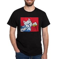 White Wine Westie T-Shirt