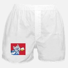 White Wine Westie Boxer Shorts