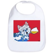 White Wine Westie Bib