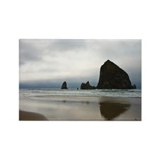 Rocks on Cannon Beach Rectangle Magnet