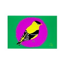 Goldfinch Rectangle Magnet