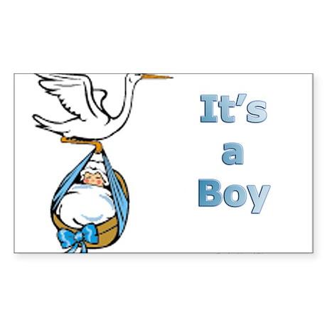 It's a Boy Rectangle Sticker
