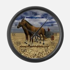 Cute Track king horse racing online game Large Wall Clock