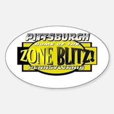 ZONE BLITZ Oval Decal
