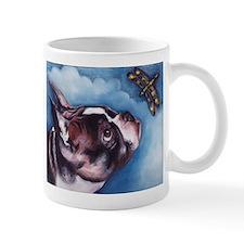 Boston Terrier and Dragonfly Mug