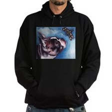 Boston Terrier and Dragonfly Hoodie