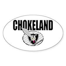 CHOKELAND Oval Decal