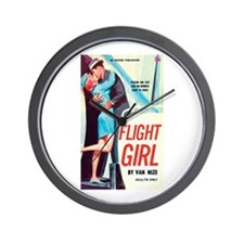 "Wall Clock - ""Flight Girl"""