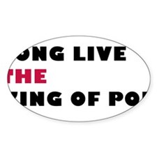 Long Live The King Of Pop Oval Decal