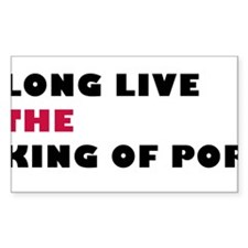 Long Live The King Of Pop Rectangle Decal