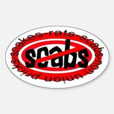 NO SCABS Oval Decal