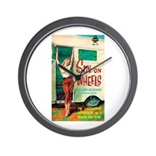 "Wall Clock - ""Sin On Wheels"""
