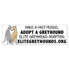 Adopt A Greyhound Bumper Car Sticker