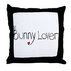 Bunny Lover Throw Pillow