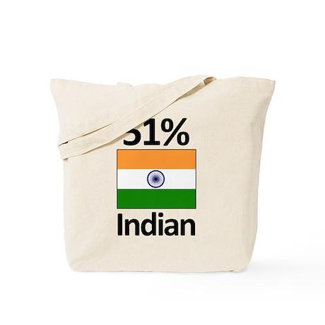 51% Indian Tote Bag