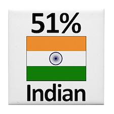 51% Indian Tile Coaster
