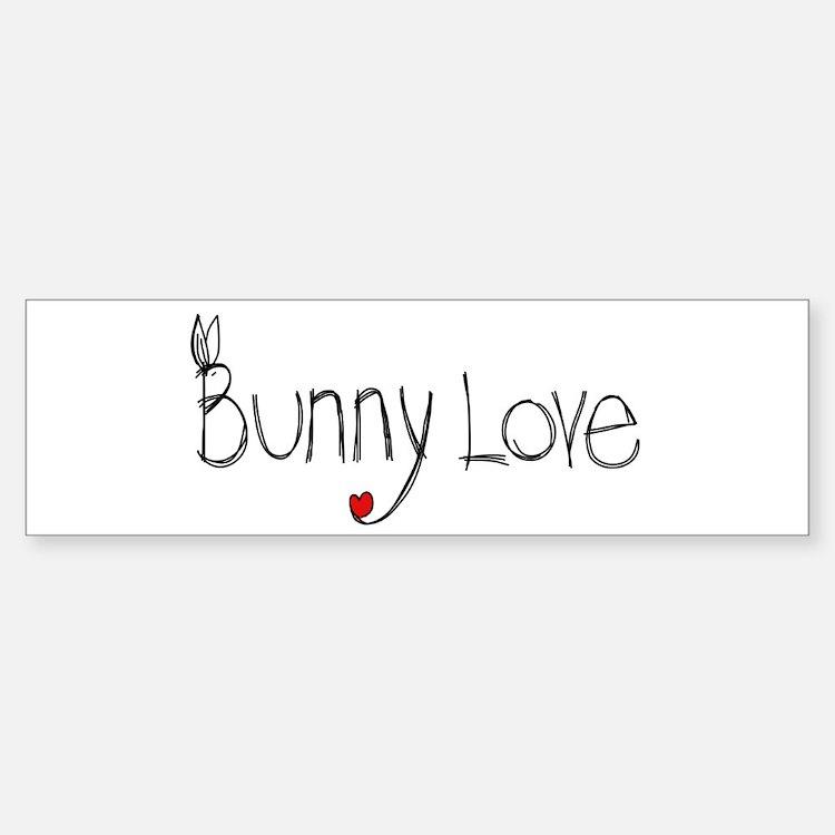 Bunny Love Bumper Bumper Bumper Sticker