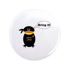 "Cute Chemo 3.5"" Button"