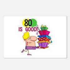 80 is Good Postcards (Package of 8)