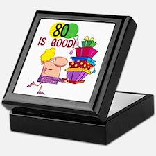 80 is Good Keepsake Box