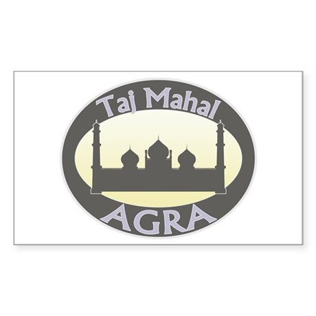Taj Mahal India Rectangle Sticker