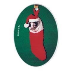 Sheltie Puppy (Blue Merle) Ornament