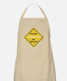 Proud Godmother on Board BBQ Apron